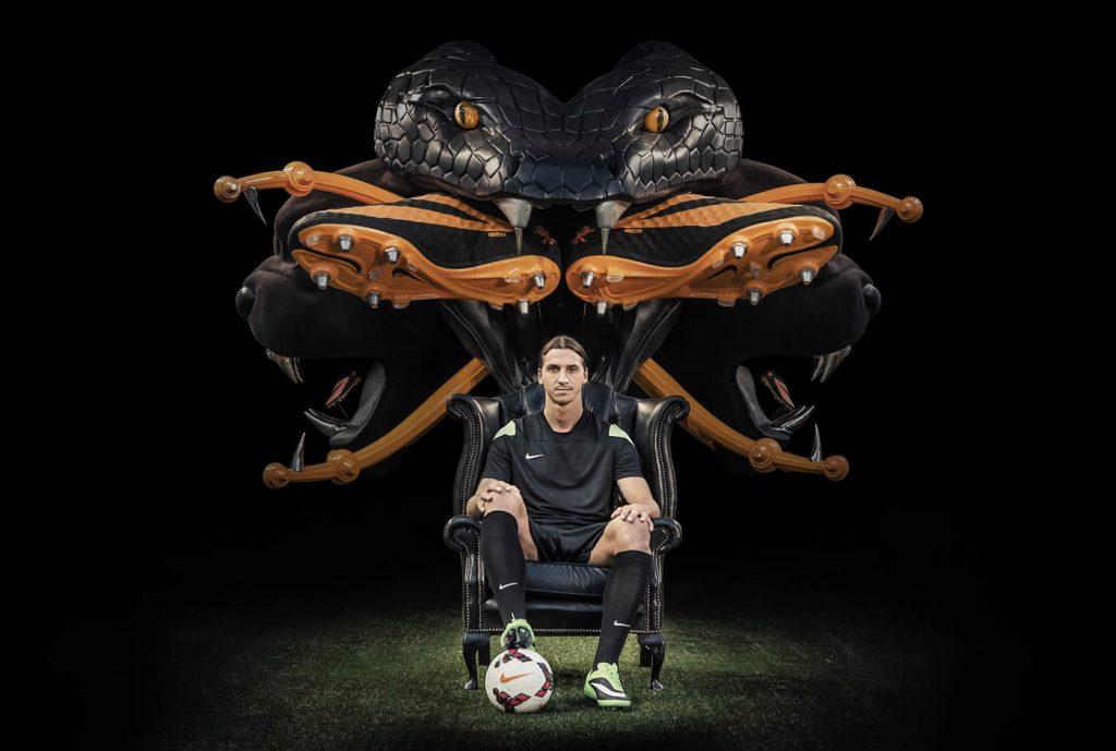 Ibrahimovic con sus Hypervenom | Foto Nike