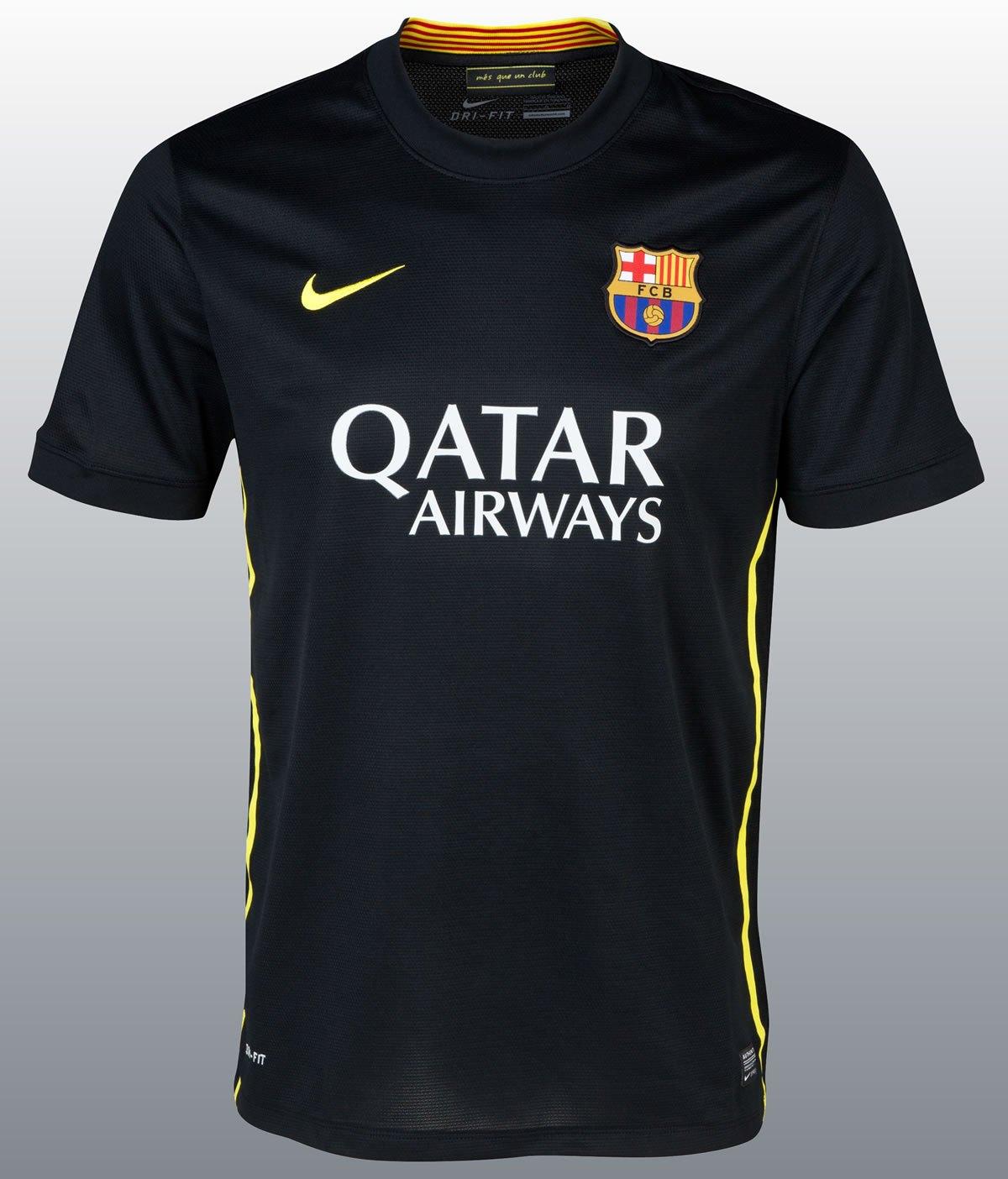 Camiseta negra del Barcelona   Foto Nike