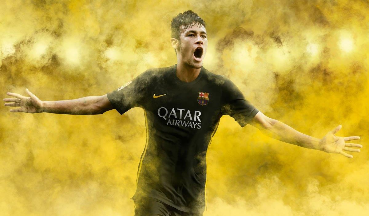 Neymar con la tercera casaca   Foto Nike