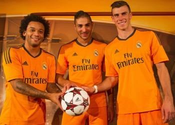 Marcelo, Benzema y Bale con la nueva casaca | Foto Adidas