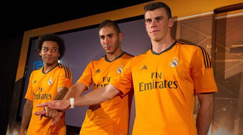 Marcelo, Benzema y Bale con la nueva casaca | Foto Facebook Real Madrid
