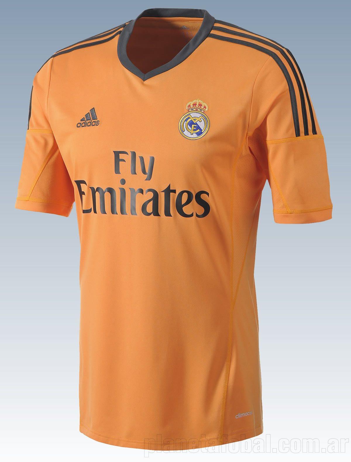 Camiseta naranja Adidas del Real Madrid 2013 14 a799bf5bb0e04