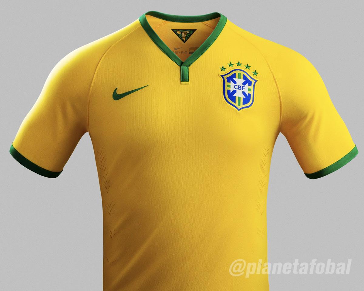 Asi luce la nueva camiseta de Brasil | Foto Nike