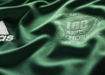Logo del centenario en la camiseta | Foto web Palmeiras