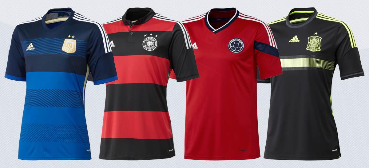 Suplentes Argentina, Alemania, Colombia y España | Imágenes Adidas