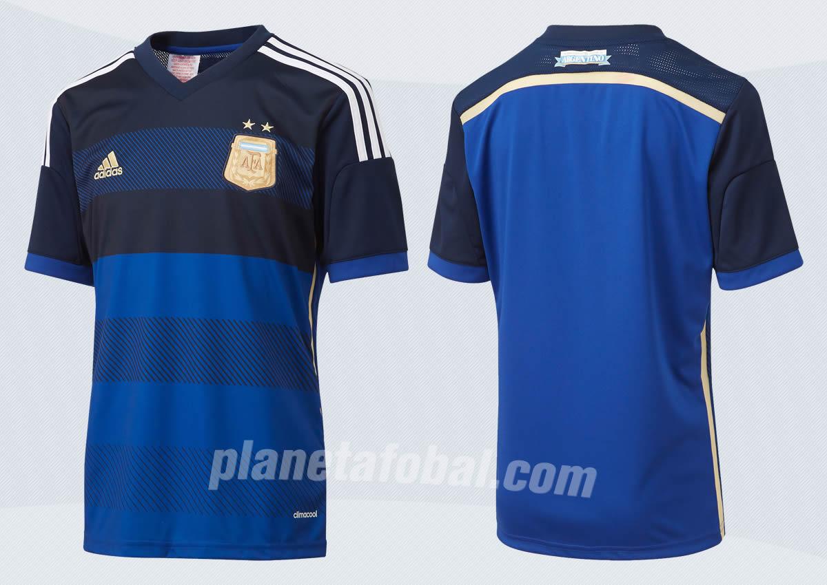 La camiseta suplente de Argentina para 2014 | Foto Adidas
