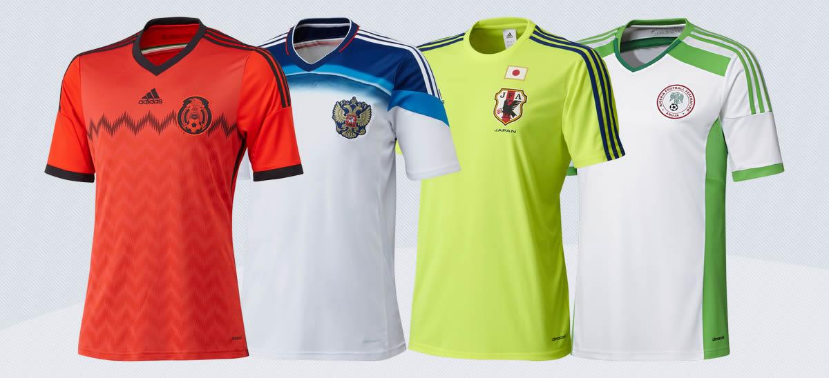 Suplentes México, Rusia, Japón y Nigeria | Imágenes Adidas