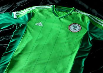Camiseta titular de Nigeria 2014 | Foto Adidas