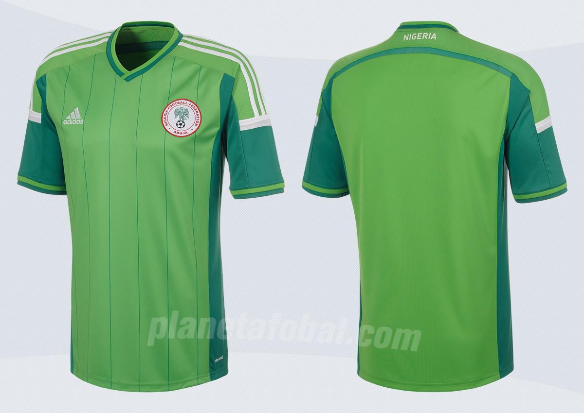 Camiseta titular de Nigeria Mundial 2014 | Foto Adidas