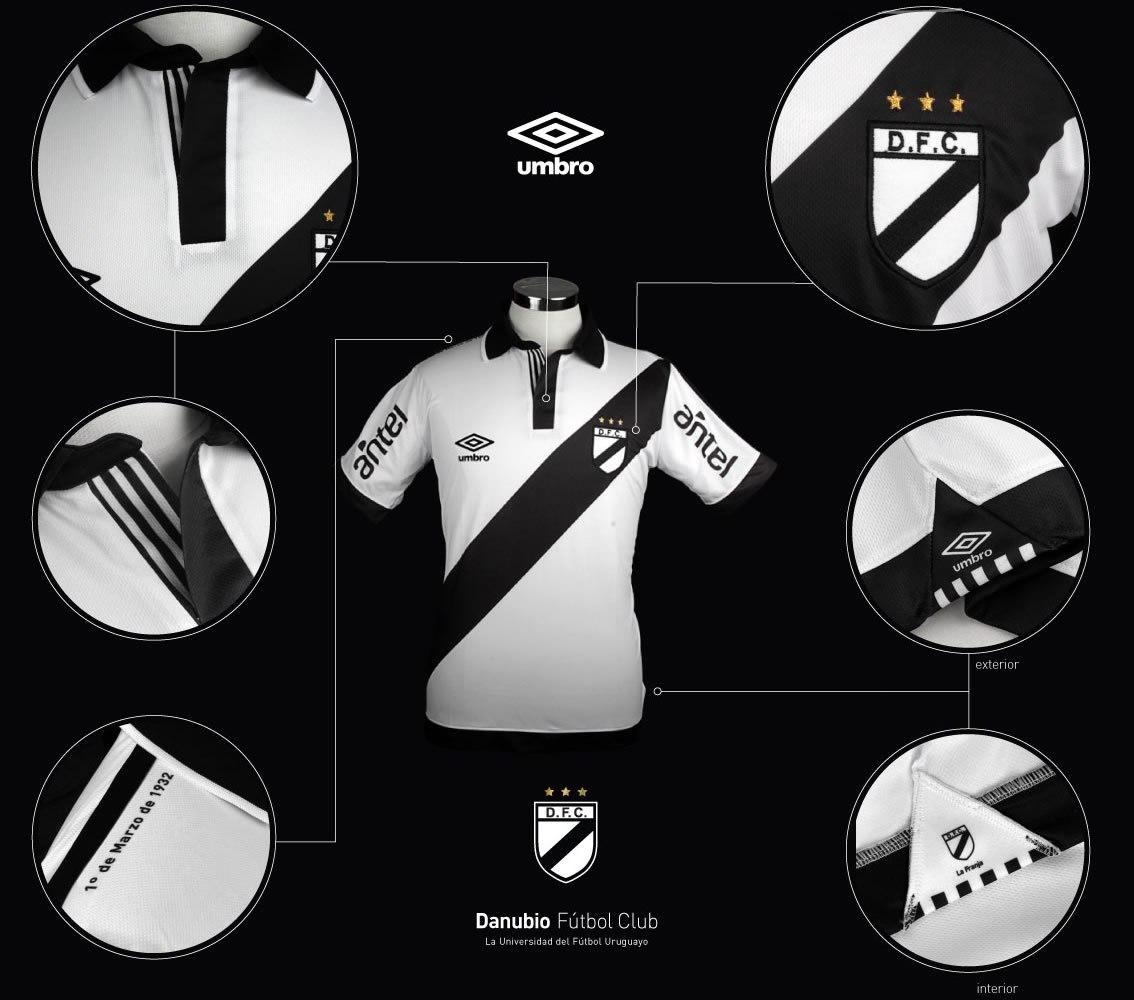 Nueva camiseta titular de Danubio | Foto web oficial