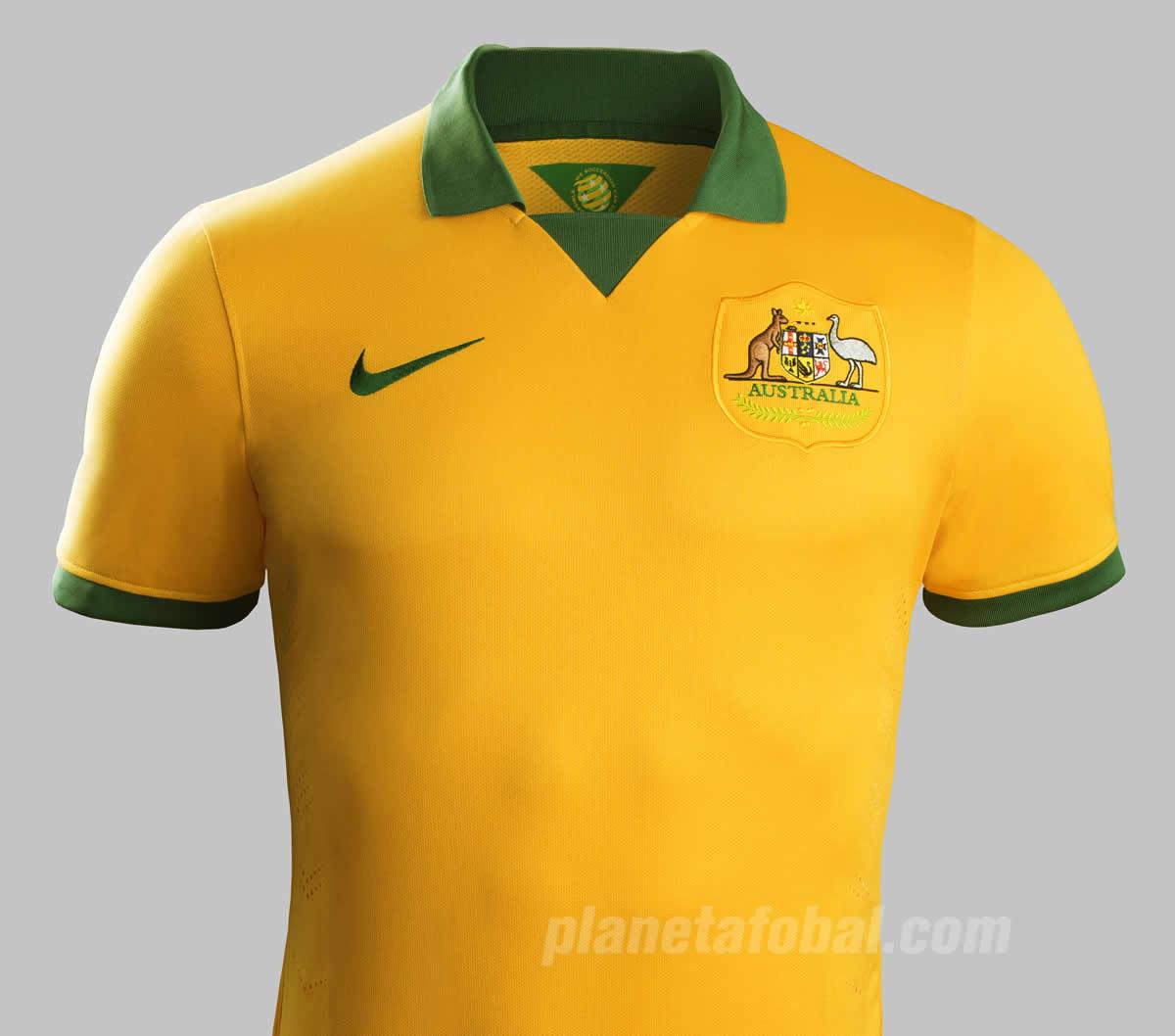 Nueva camiseta titular de Australia | Foto Nike