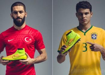 Arda Turan y Thiago Silva con los botines | Foto Nike