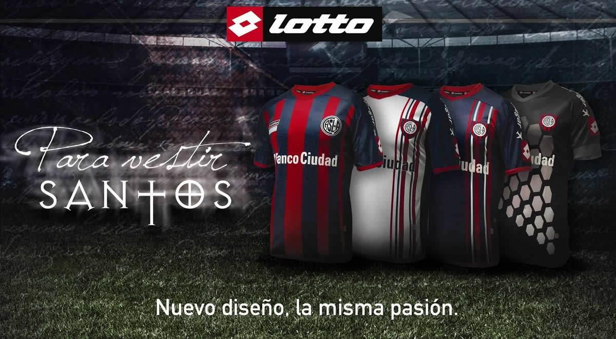 Asi lucen las nuevas casacas de San Lorenzo | Foto Lotto