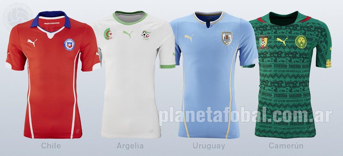 Camisetas Chile, Argelia, Uruguay y Camerún | Foto Puma