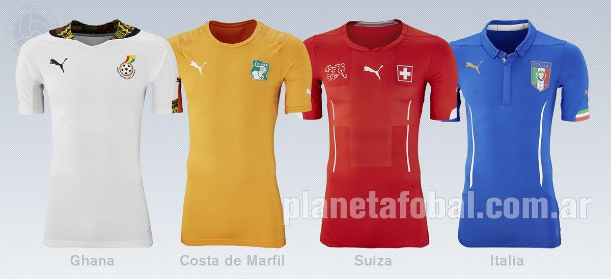 Camisetas Ghana, Costa de Marfil, Suiza y Italia | Foto Puma