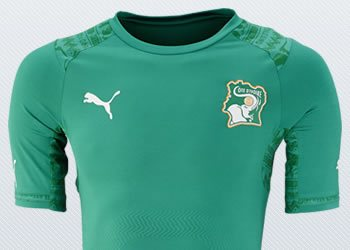 Asi luce la camiseta suplente de Costa de Marfil | Imágenes Puma