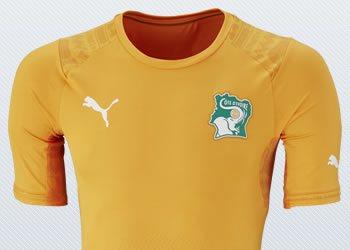 Asi luce la camiseta titular de Costa de Marfil | Imágenes Puma