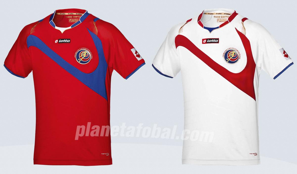 Las dos camisetas que usará Costa Rica | Imágenes Lotto