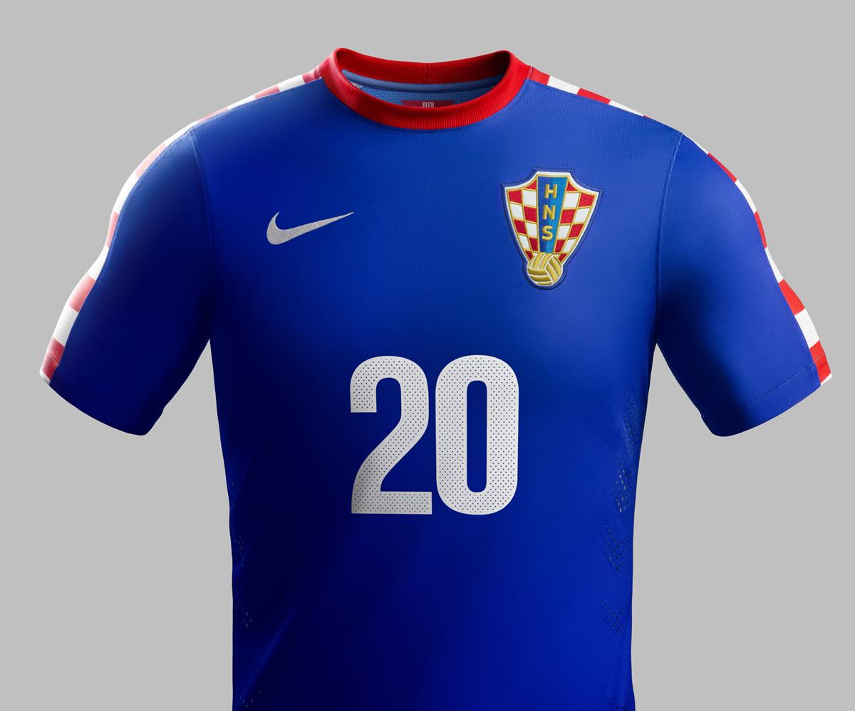 La camiseta suplente de Croacia | Foto Nike