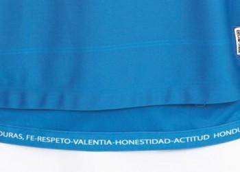 Detalle camiseta suplente de Honduras | Foto Joma