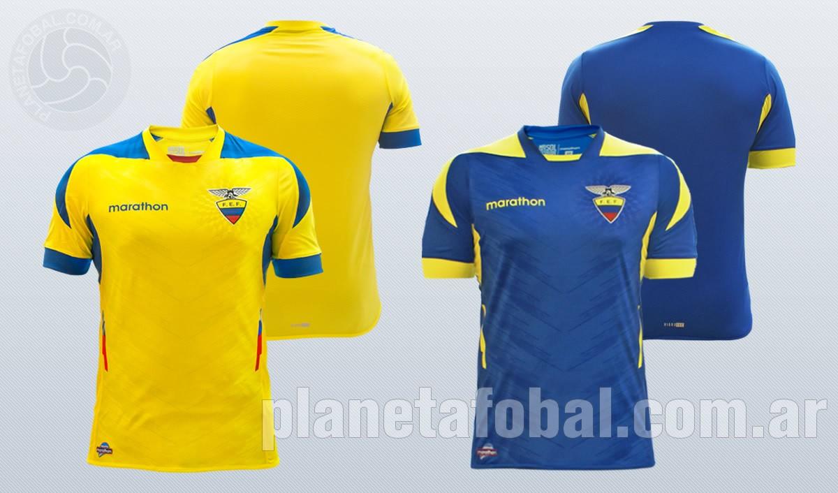 Las dos camisetas de Ecuador para el mundial | Imágenes Marathon Sports