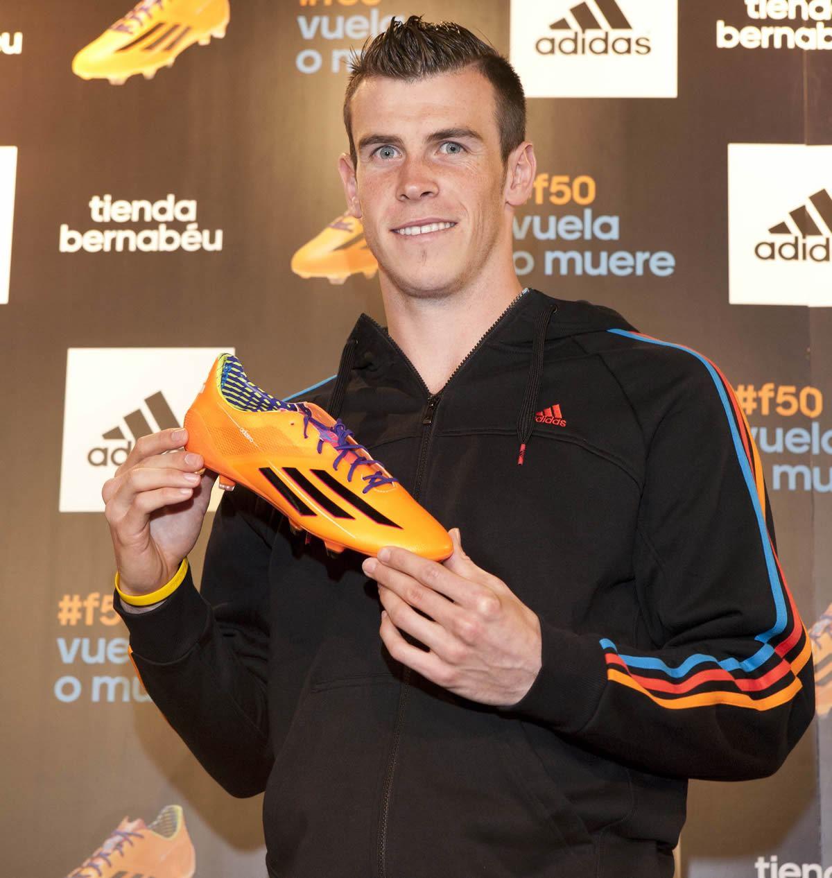 Bale con sus nuevos Adizero | Foto Adidas