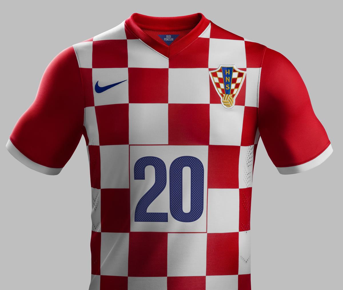 Nueva camiseta titular de Croacia | Foto Nike