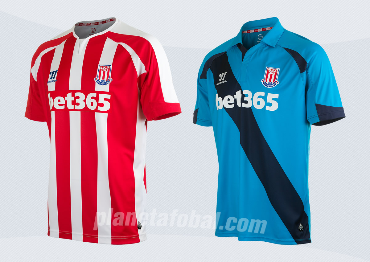 Las dos camisetas Warrior de Stoke City | Imágenes Web Oficial