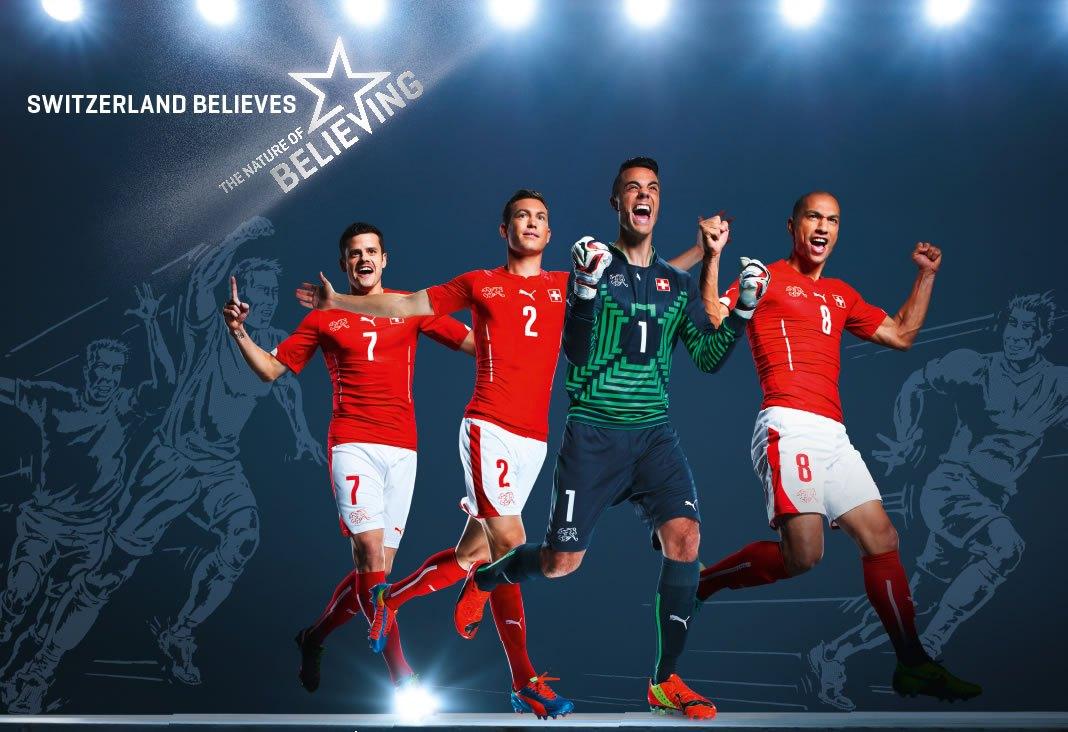 La nueva camiseta de Suiza | Foto Web Oficial