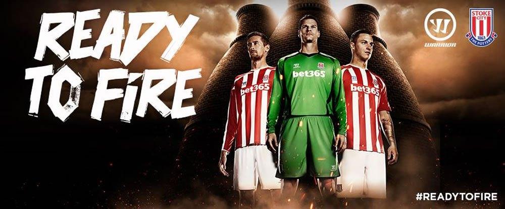 La nueva camiseta titular de Stoke City | Foto Warrior