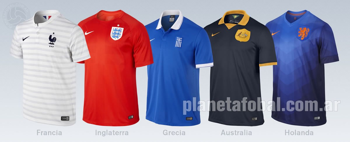 Camisetas Francia, Inglaterra, Grecia, Australia y Holanda | Imagenes Nike