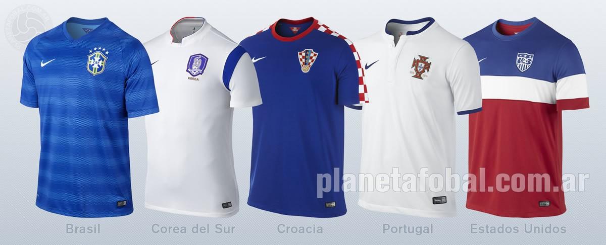 Camisetas Brasil, Corea del Sur, Croacia, Portugal y Estados Unidos | Imagenes Nike