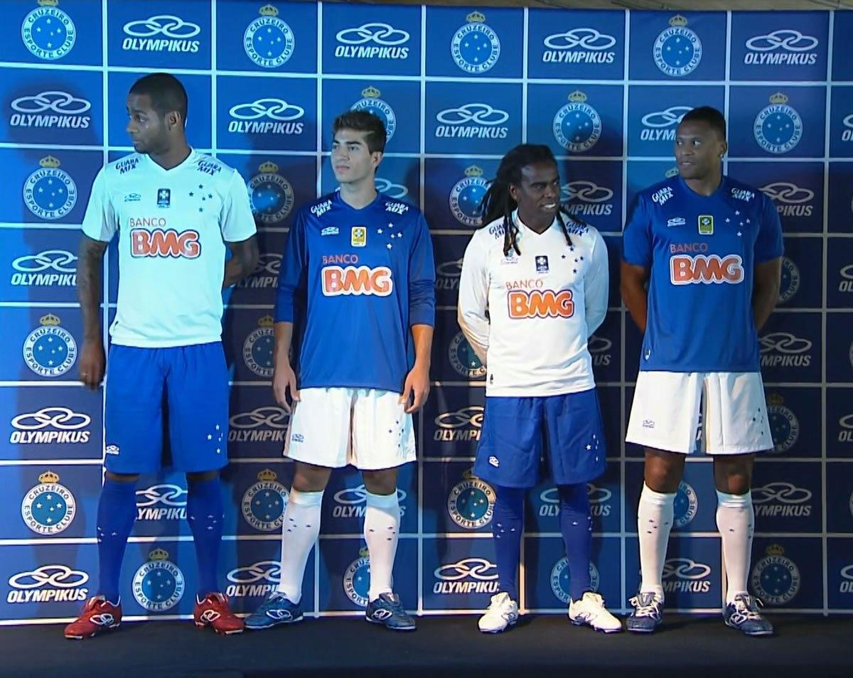 Las nuevas camiseta del Cruzeiro | Foto O Globo