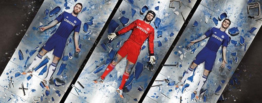 Hazard, Cech y Oscar con las casacas | Foto Adidas
