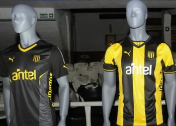 Las tres camisetas de Peñarol | Foto El Observador