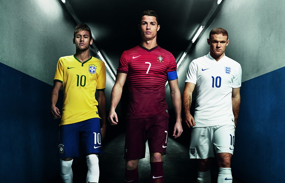 Neymar, Cristiano Ronaldo y Rooney en la nueva campaña | Foto Nike