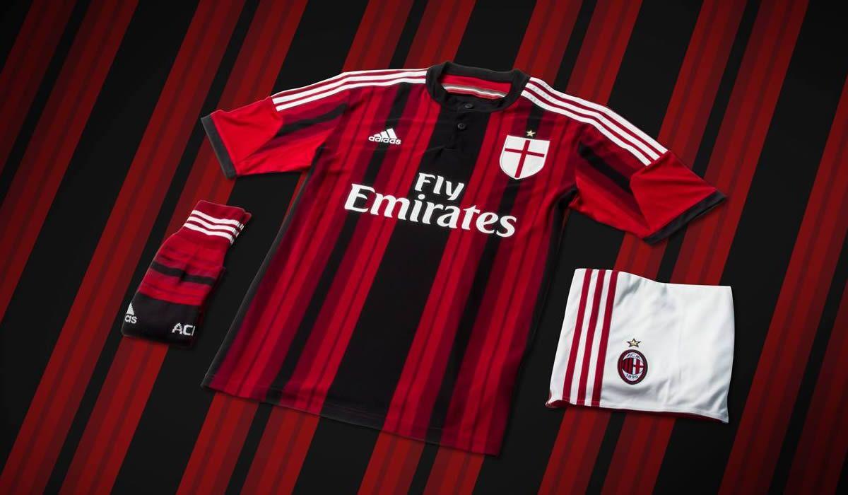 Camiseta titular del Milan 2014/15 | Foto Adidas