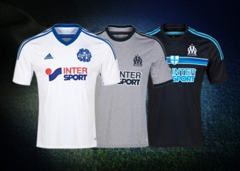 Las tres casacas del Olympique Marsella | Foto Web Oficial