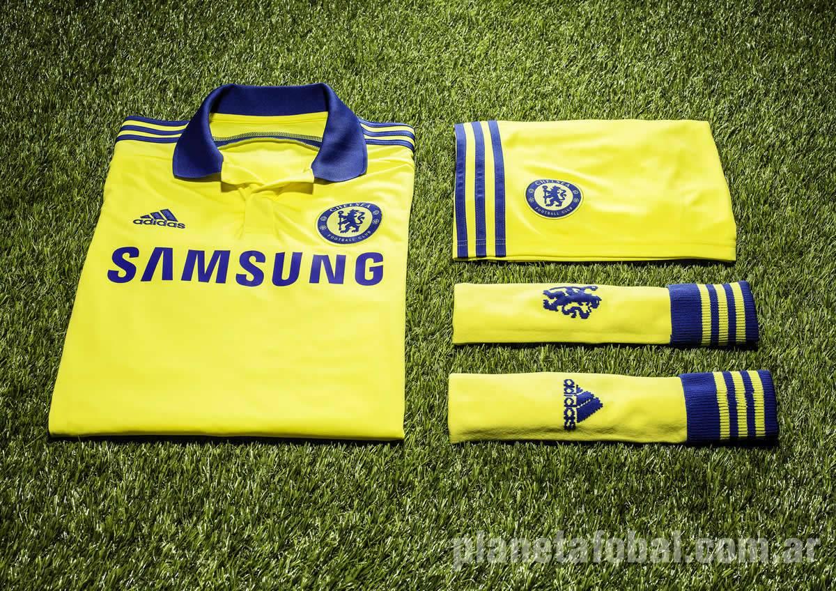 Camiseta suplente amarilla del Chelsea | Foto Adidas