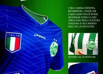 Camiseta reversible Italia-Juventude | Foto web oficial Juventude