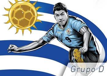 Grupo D: Uruguay, Costa Rica, Inglaterra e Italia | Foto ESPN