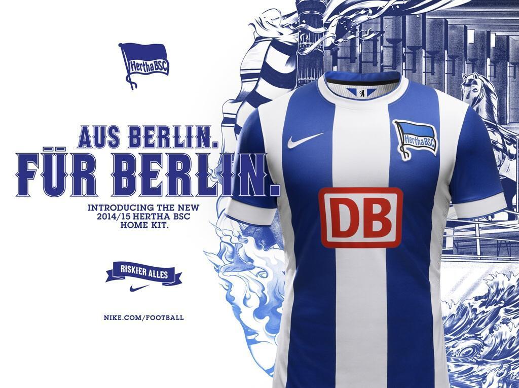 La nueva camiseta del Hertha Berlin | Foto Nike
