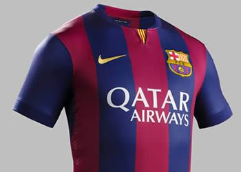 Asi luce la camiseta titular del Barcelona   Foto Nike