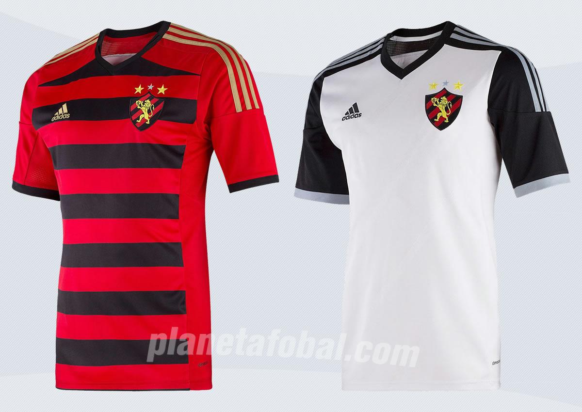 Camiseta titular (izquierda) y suplente (suplente) de Sport Recife para 2014 | Foto Adidas