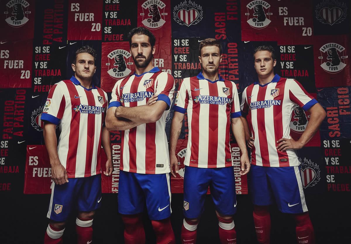 Koke, Raúl García, Gabi y Manquillo con la nueva camiseta | Foto Nike