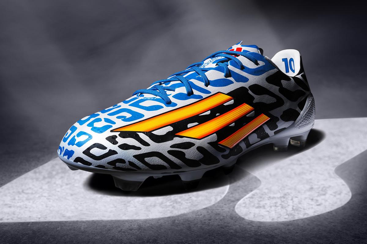 Así luce el adizero F50 de Lionel Messi para el Mundial 2014 | Foto Adidas