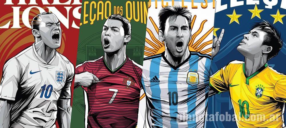 Afiches mundialistas creados por el artista brasilero Crisvector | Imagenes ESPN