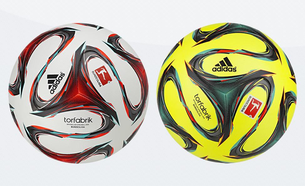 Los dos balones Adidas Torfabrik de la Bundesliga 2014/2015 | Imagenes Web Oficial