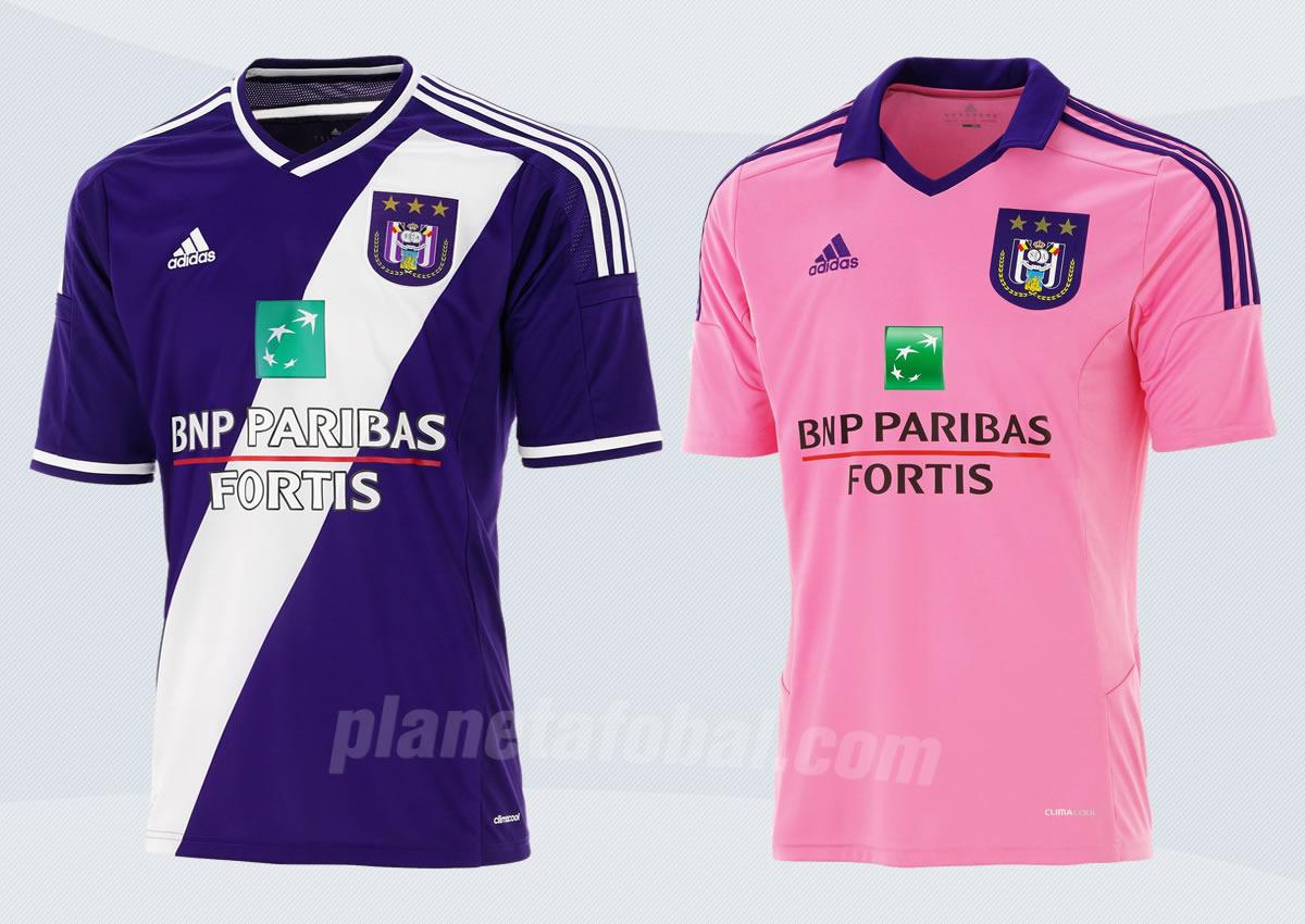Las dos camisetas de Anderlecht para 2014/15 | Foto Web Oficial