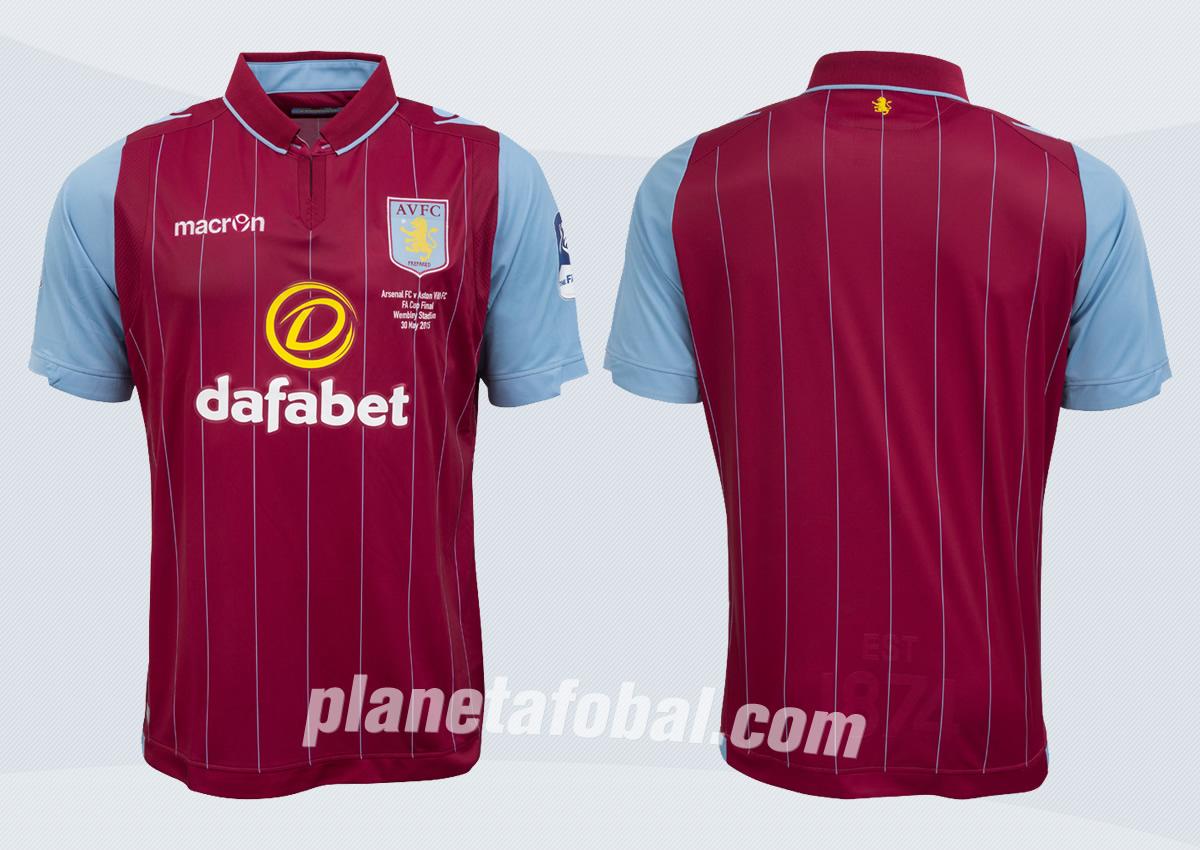 Así luce la nueva camiseta titular de Aston Villa | Foto web oficial